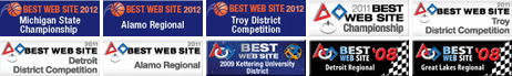 FRC Best Website Award: 2012, Michigan Championship  ;  2012, Alamo Regional  ;  2012, Troy District  ;  2011, FRC World Championship  ;  2011, Troy District  ;  2011, Detroit District  ;  2011, Alamo Regional  ;  2009, Kettering District  ;  2008, Detroit Regional  ;  2008, Great Lakes Regional